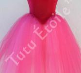 Hot Pink, Lt Garnet and Paris Pink Gored Skirt